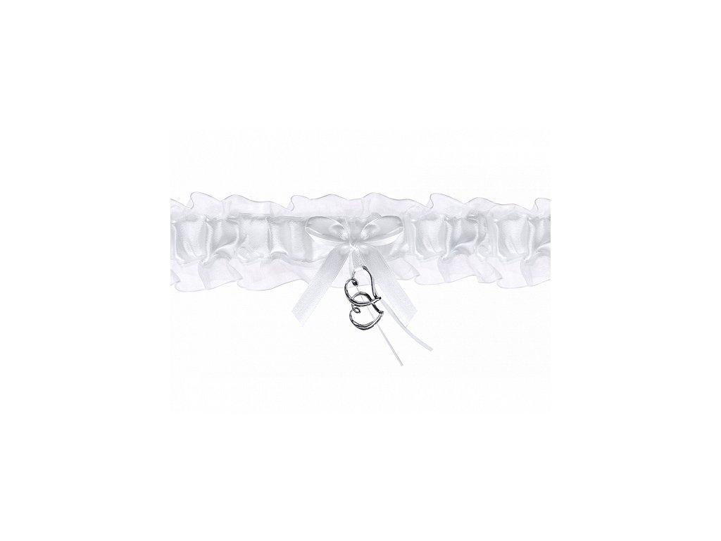 Svatebni podvazek bily s priveskem PDW400801
