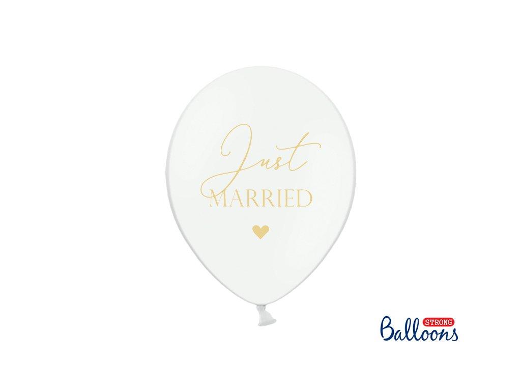 svatebni balonky just married