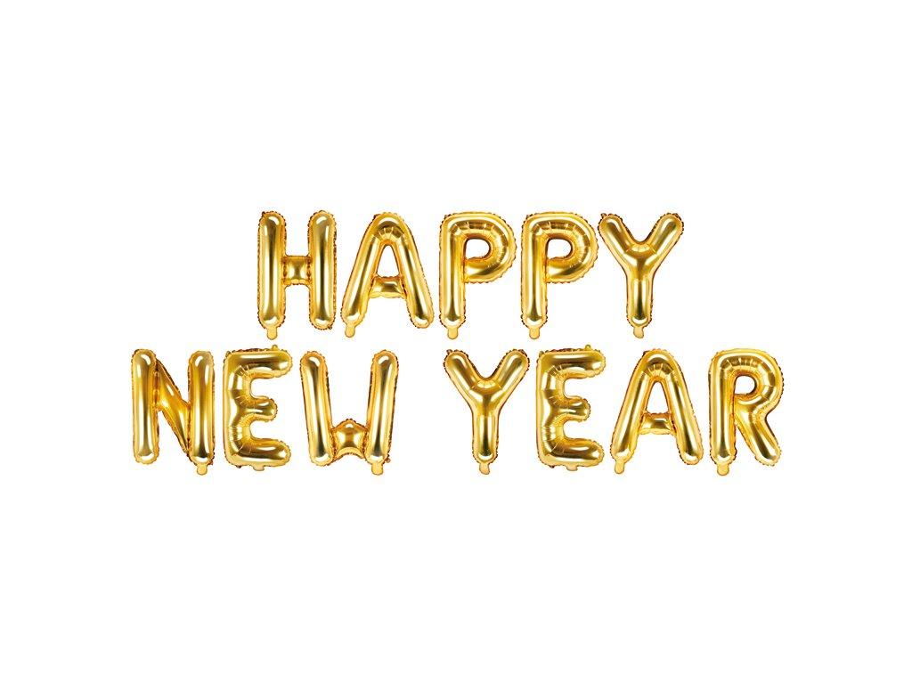 Nápis balonky Happy New Year 370x35cm