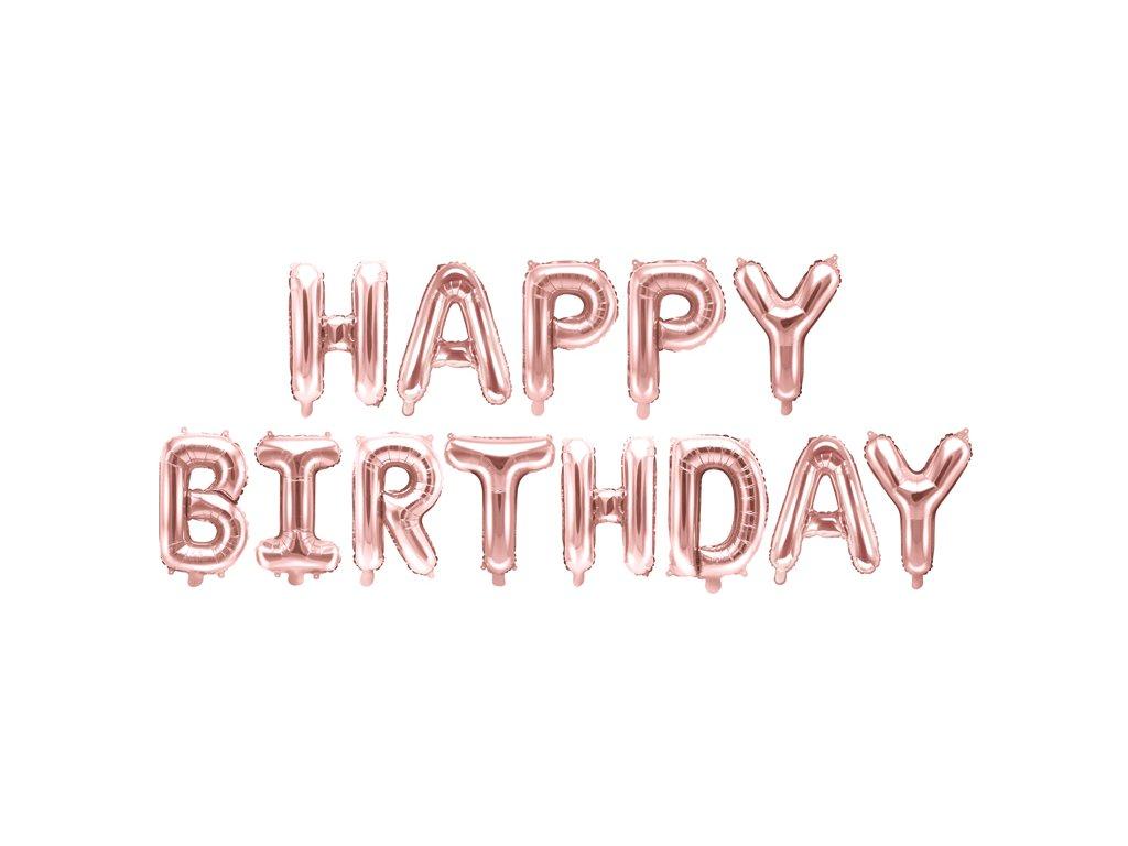 napis balonky happy birthday