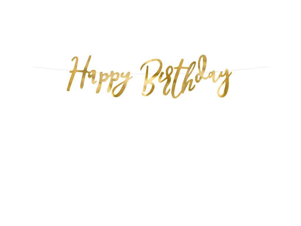 banner happy birthday party dekorace