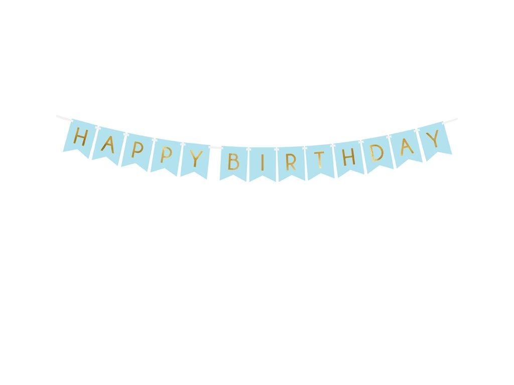 modry banner happy birthday