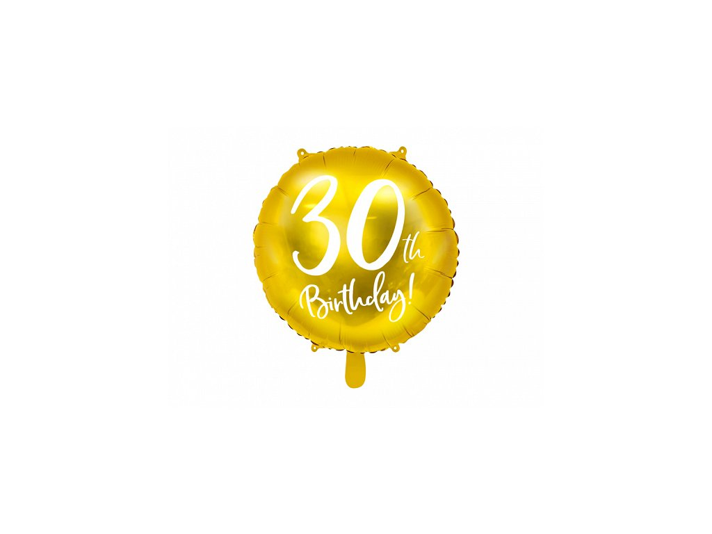 foliovy balonek cislo 30