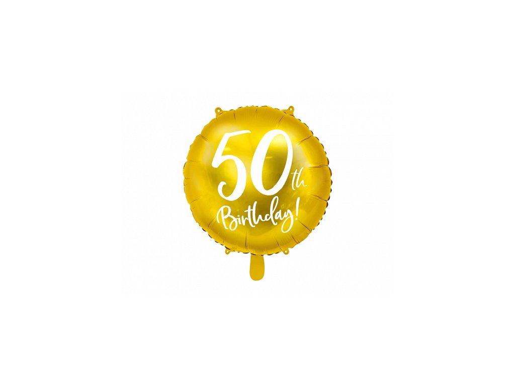 foliovy balonek cislo 50