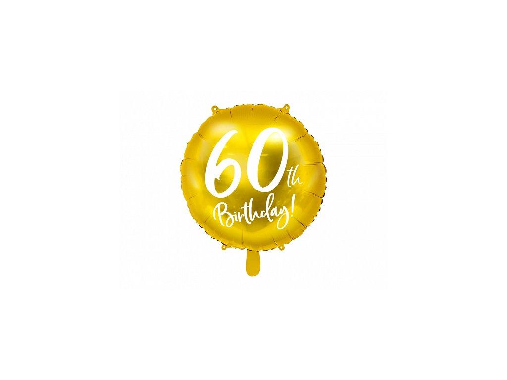 foliovy balonek cislo 60