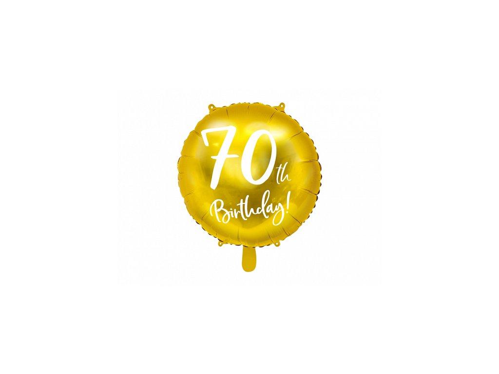 foliovy balonek cislo 70
