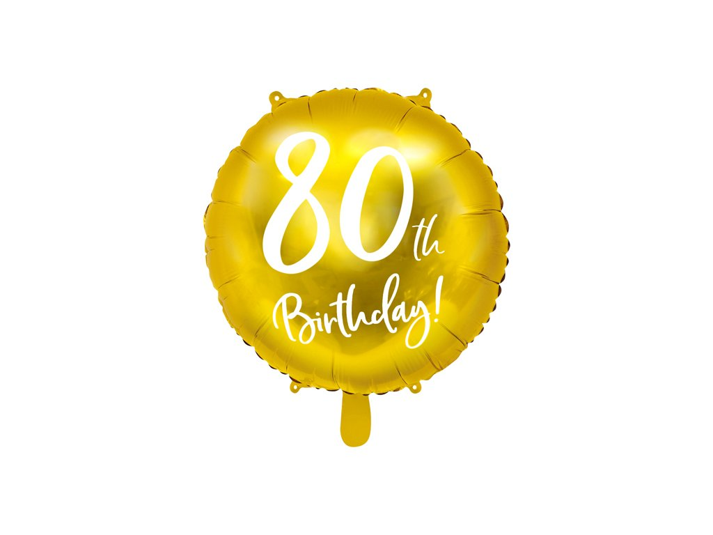 foliovy balonek 80