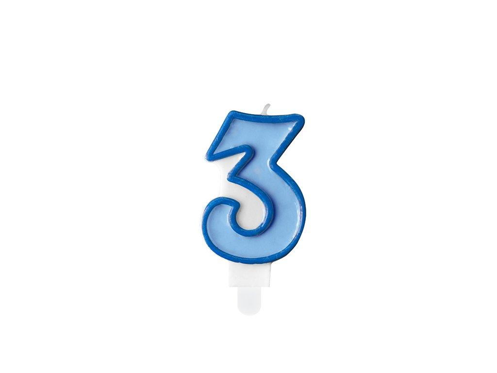 svicka na dort 3 modra