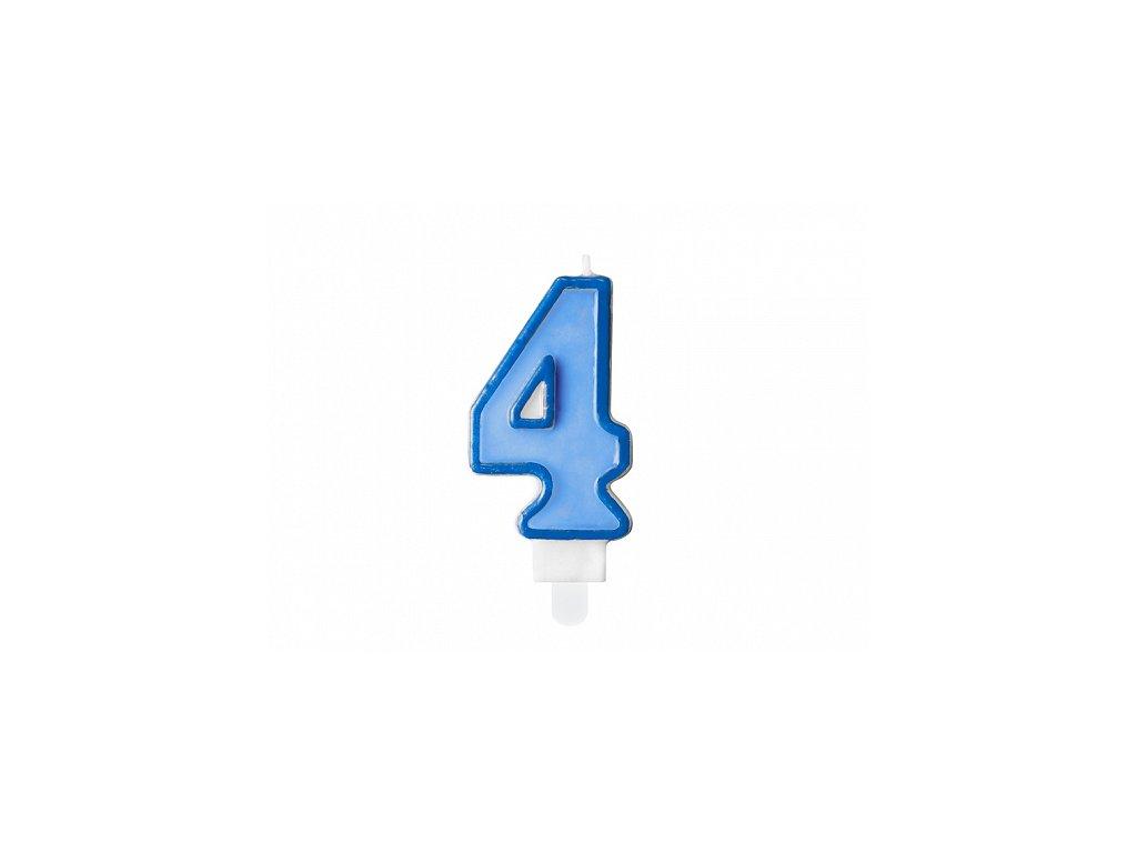 svicka na dort 4 modra