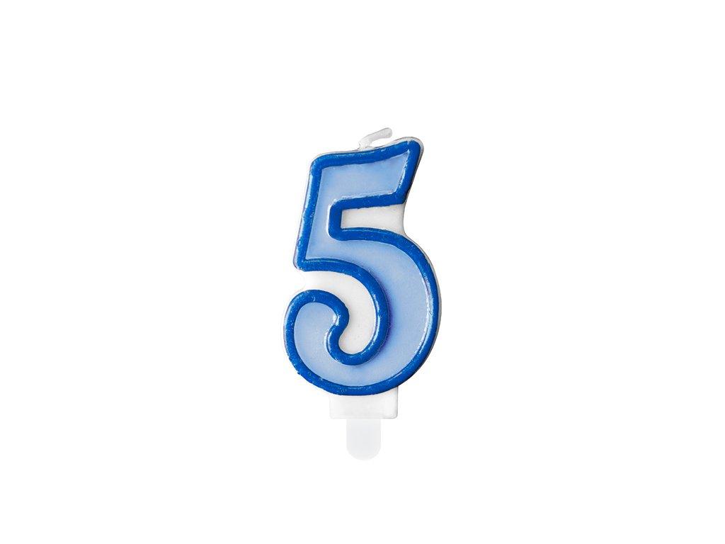 svicka na dort 5 modra