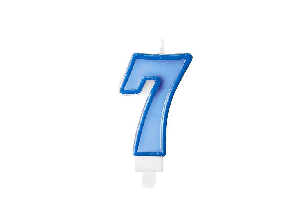 svicka na dort 7 modra