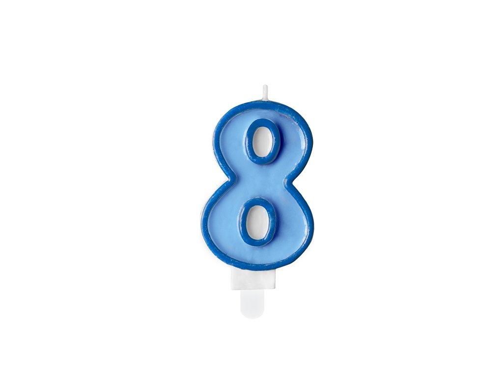 svicka na dort 8 modra