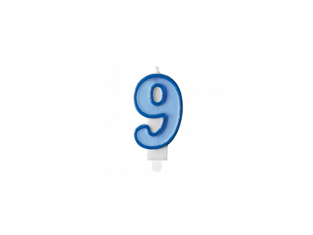 svicka na dort 9 modra