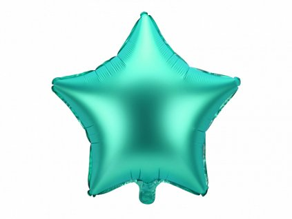 balonek foliovy hvezda zeleny