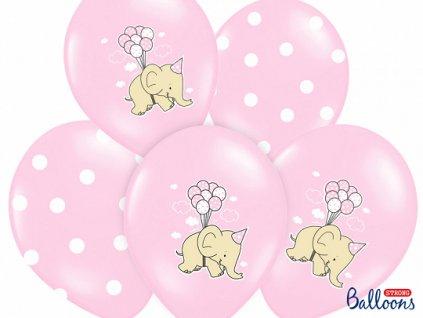 balonkova sada ruzova slon