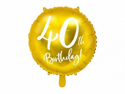 foliovy balonek cislo 40