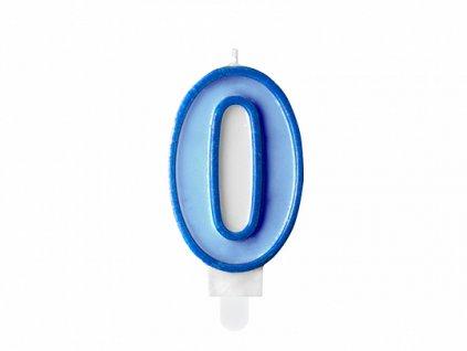 svicka na dort 0 modra