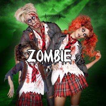 Zombie kostýmy Halloween