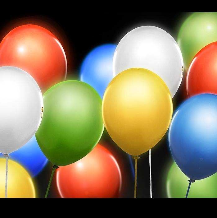 Svítící nafukovací balónky