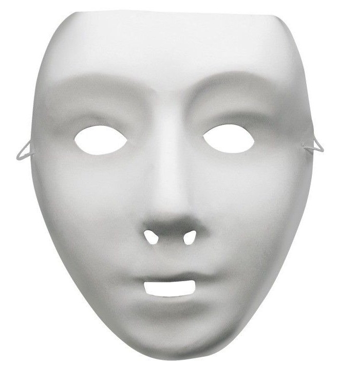 Bílé masky k domalování