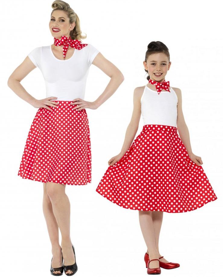 Retro sukně pro dospělé a děti