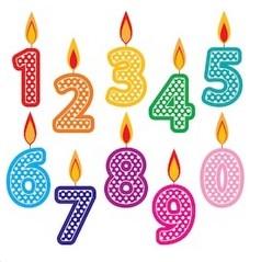 Číslice - svíčky na dort