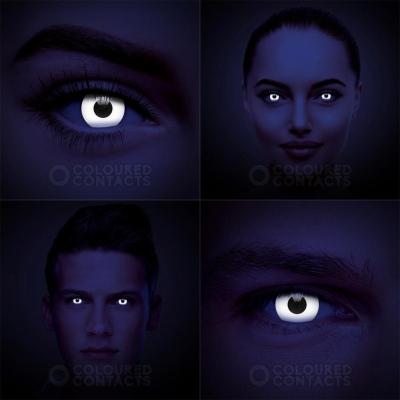 UV svítící kontaktní čočky