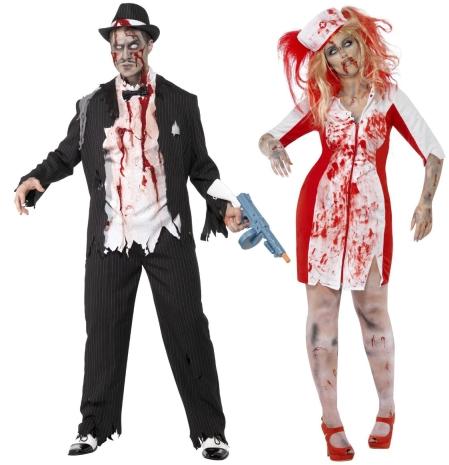 Halloween, strašidelné kostýmy, doplňky a dekorace