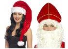 vánoční čepice a klobouky