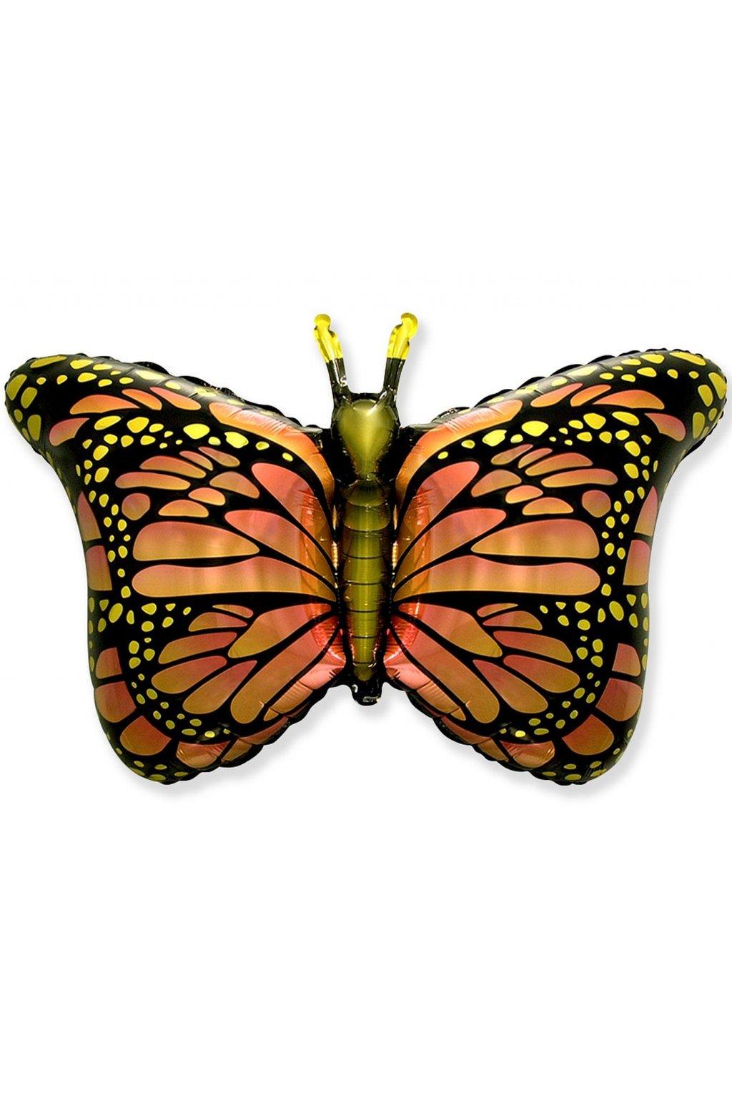 Motýl oranžový - nafukovací fóliový balónek 61cm