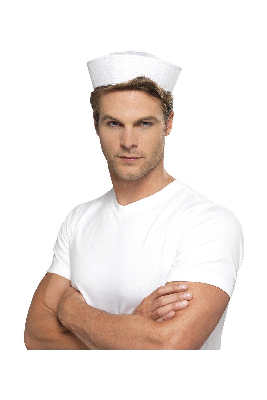 Čepice Námořník bílá - lodička