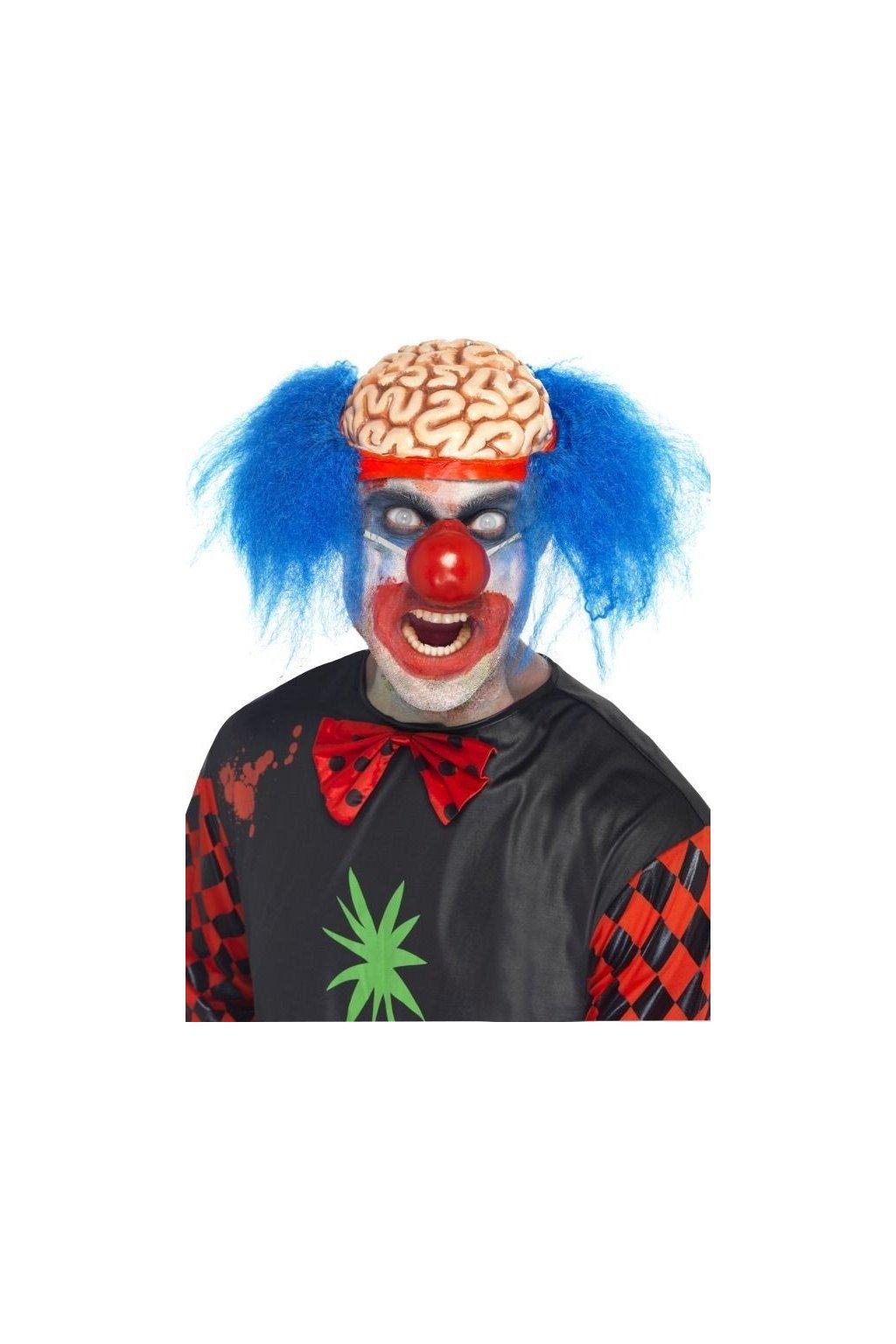 Maska zombie klauna s vlasy