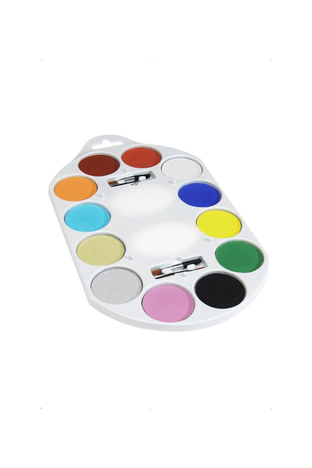 velká make-upová paleta 12 barev