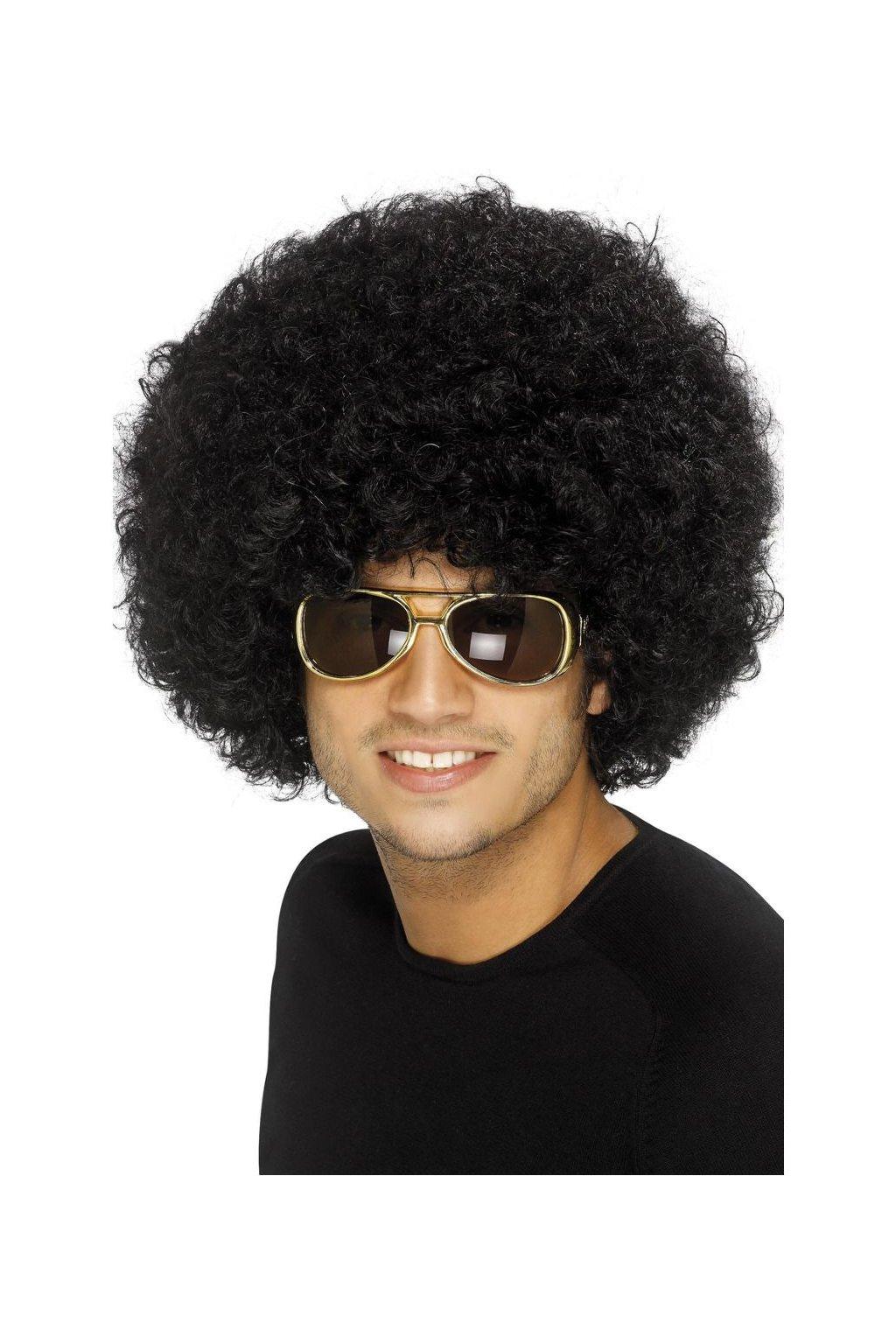 Afro paruka černá - 120g