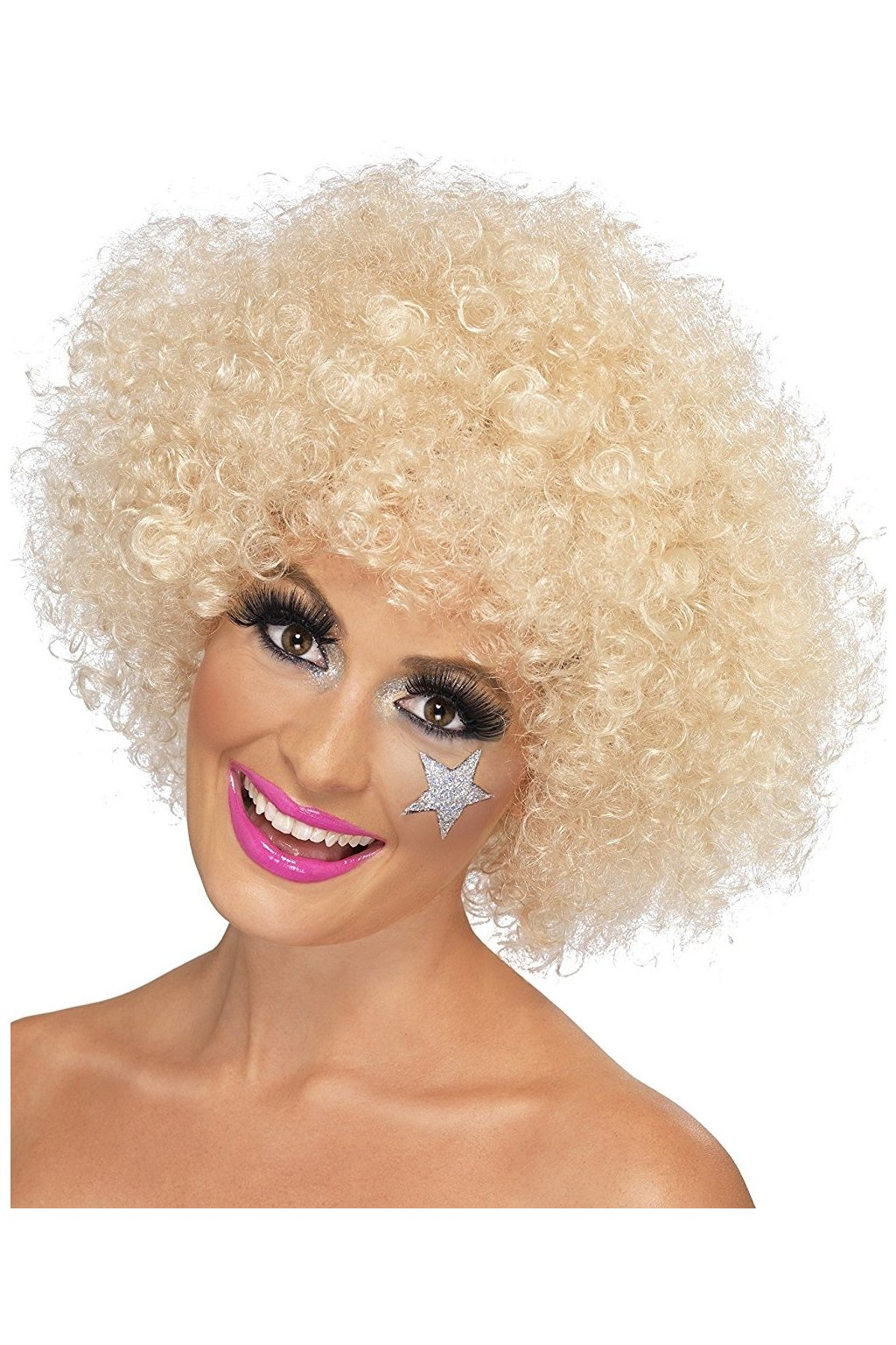 Blonďaté afro - paruka anděl