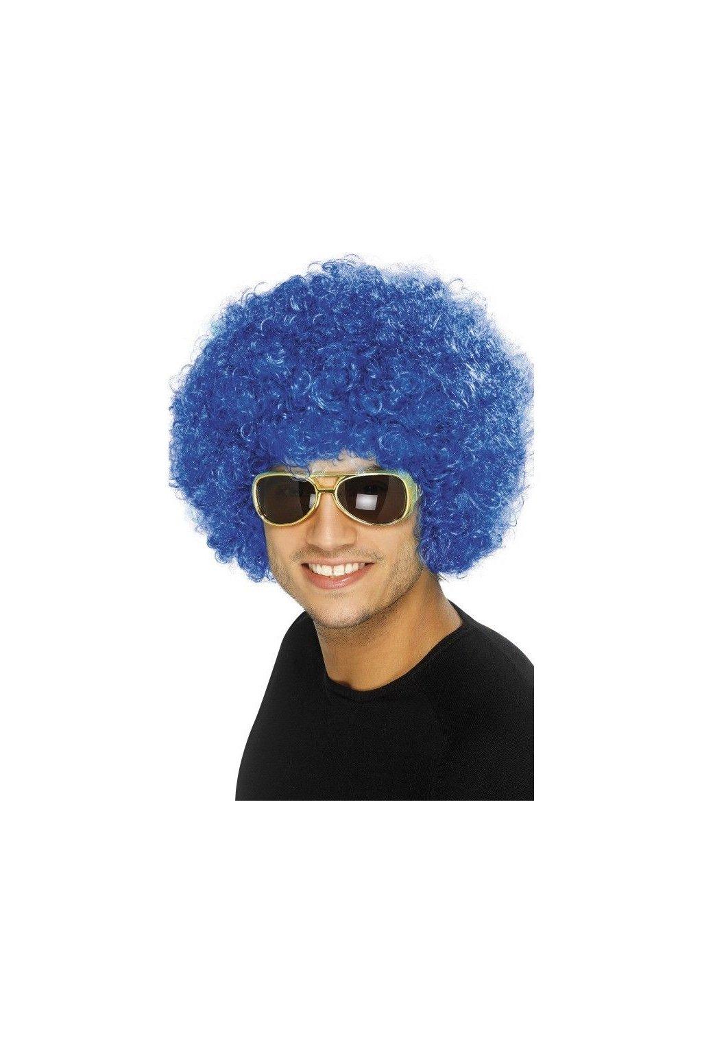 Paruka Afro modrá