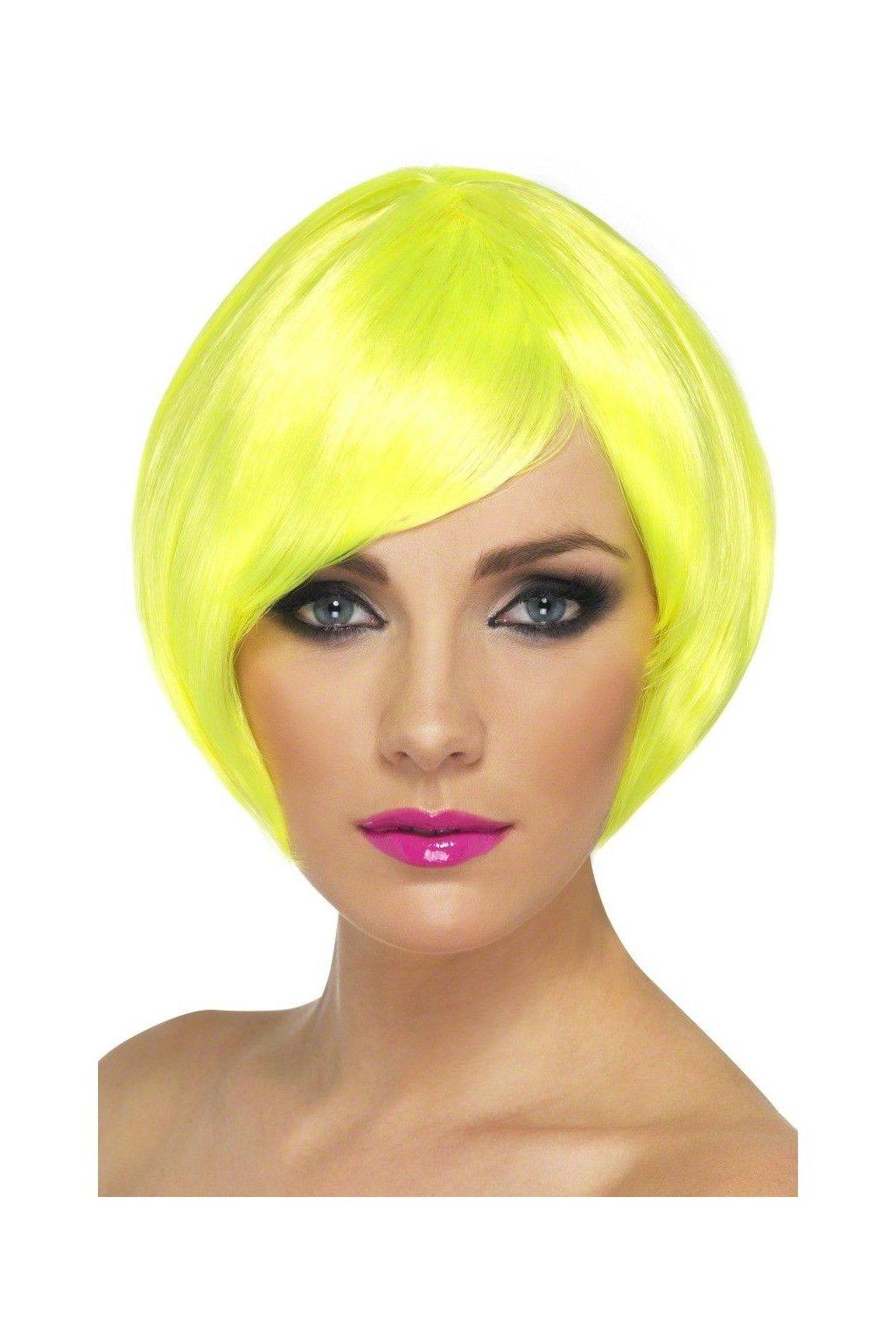Mikádo - dámská paruka neonová žlutá