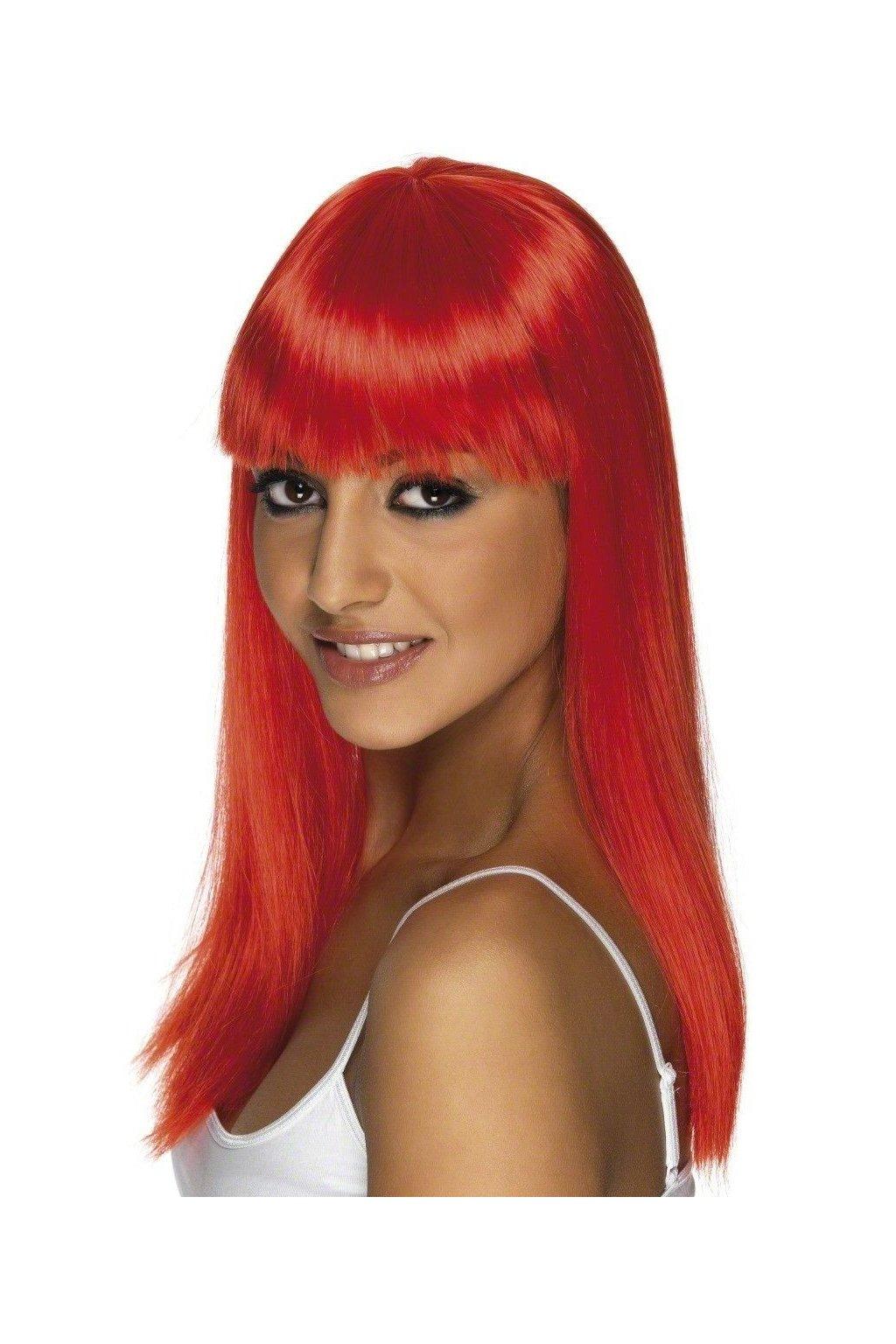 Paruka Glamourama červená