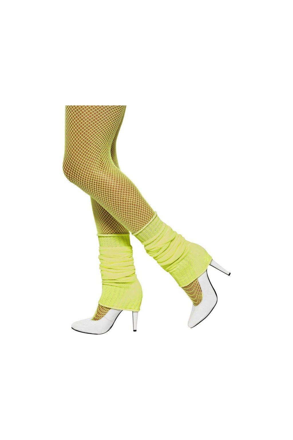 Disko návleky na nohy neonově žluté