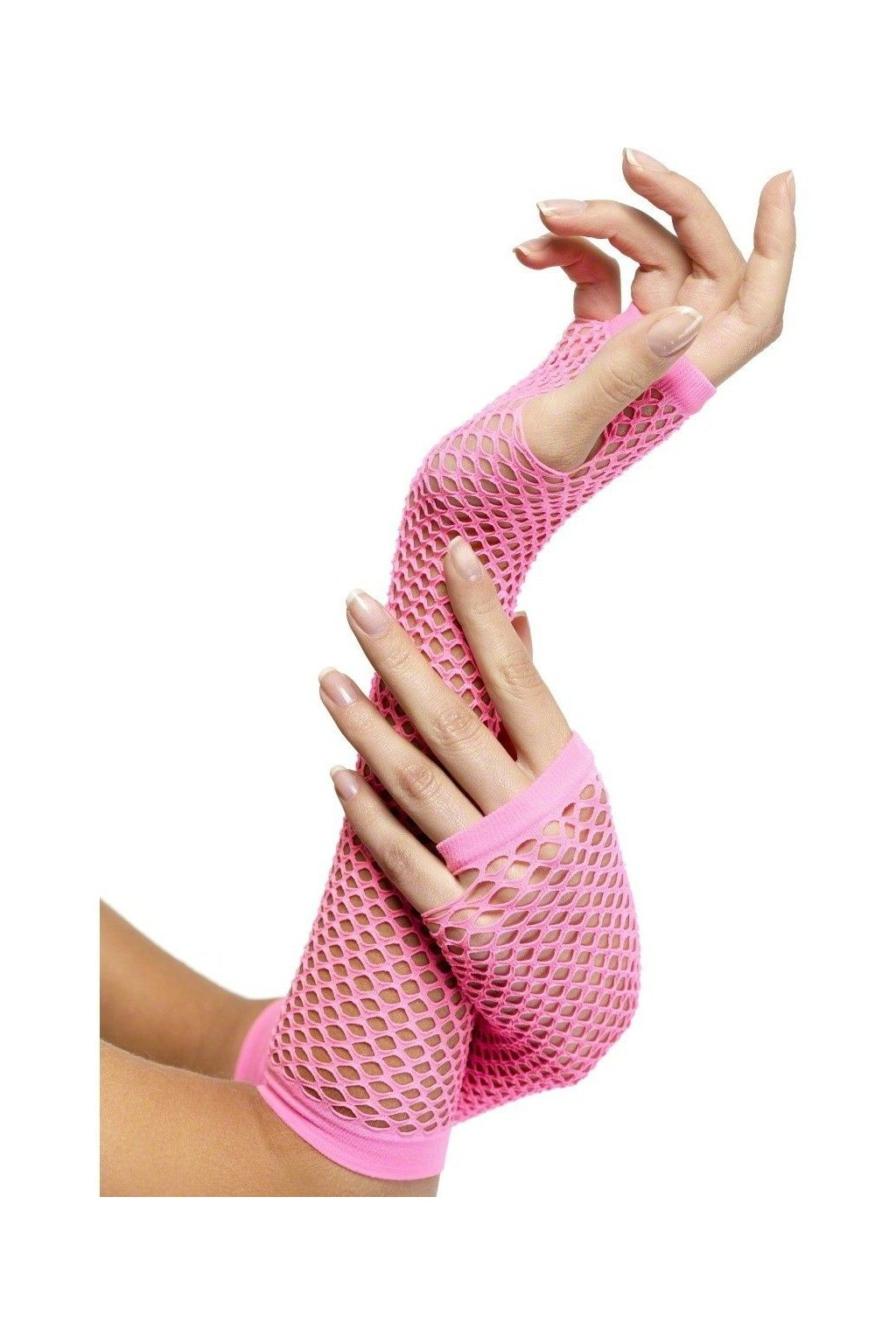 Síťované rukavice růžové