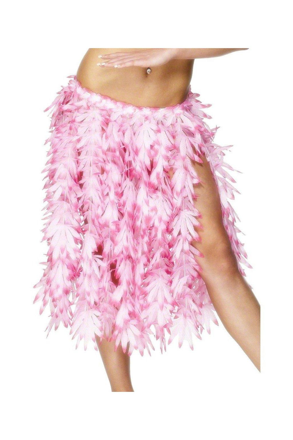 Sukně havaj - květinová sukně růžová