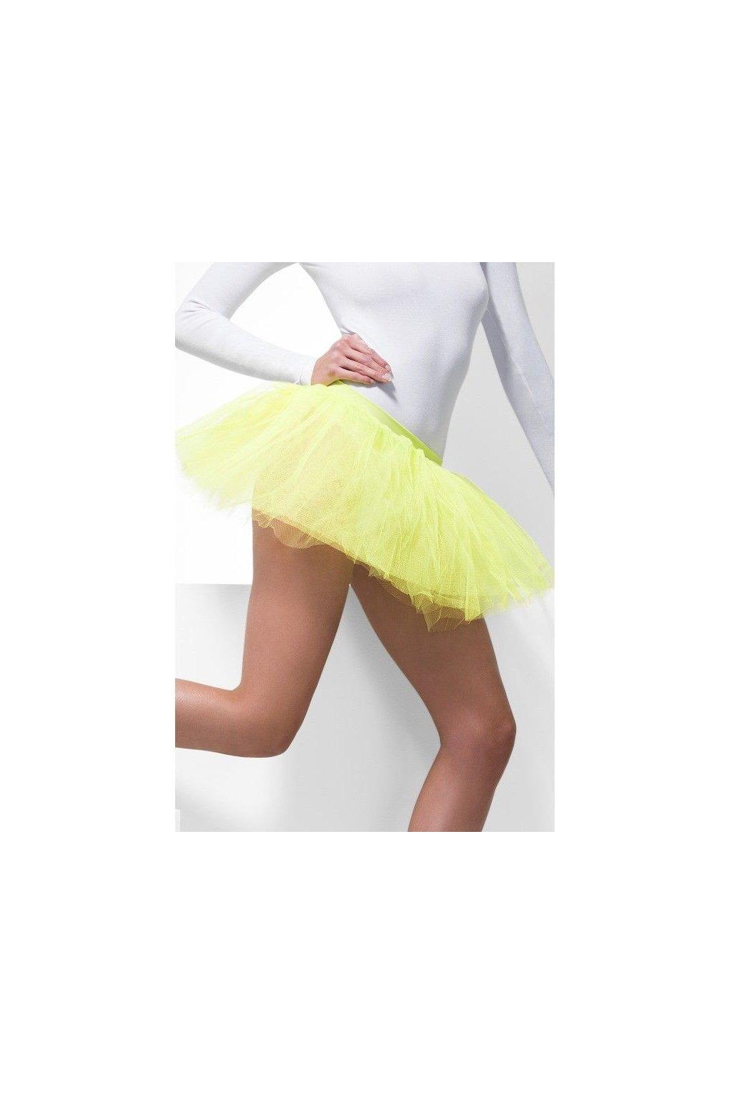 Neonově žlutá sukýnka - spodnička