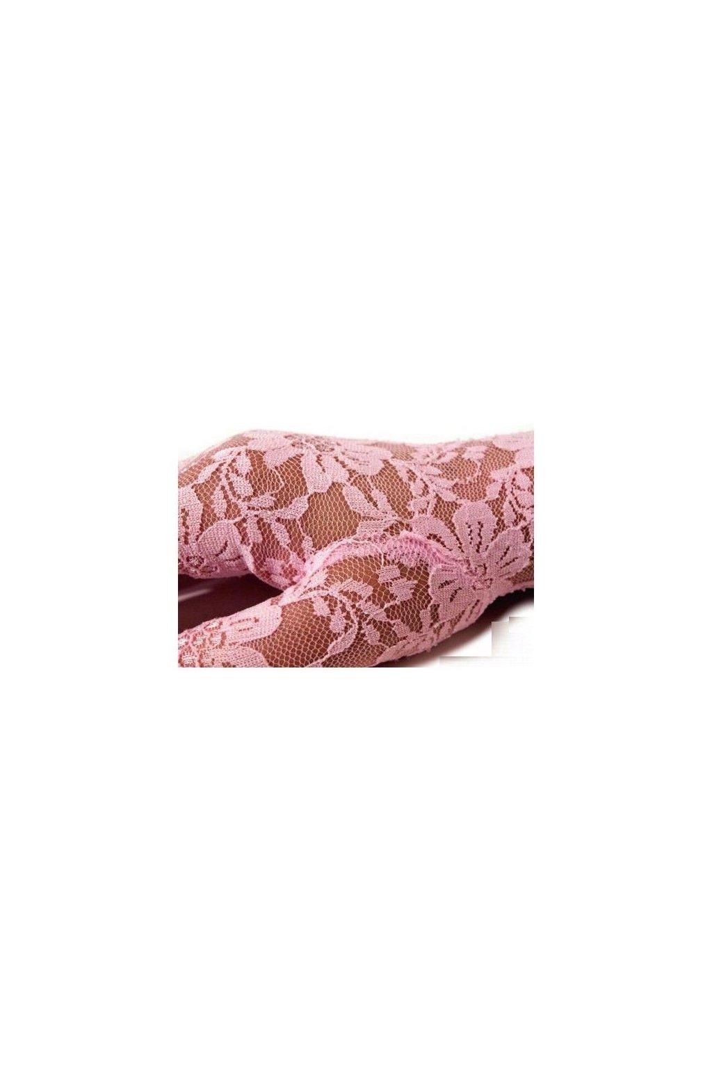 Krajkové rukavice - růžové