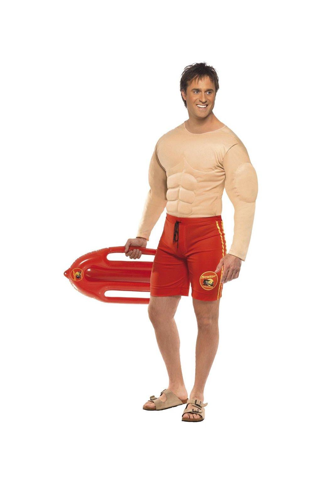 Kostým Baywatch Lifeguard - svalovec