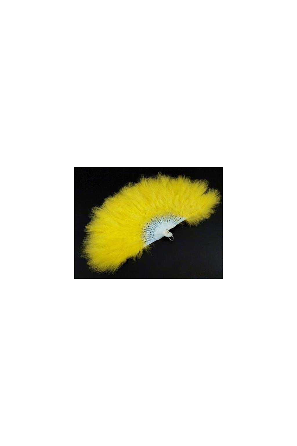 Žlutý velký vějíř péřový