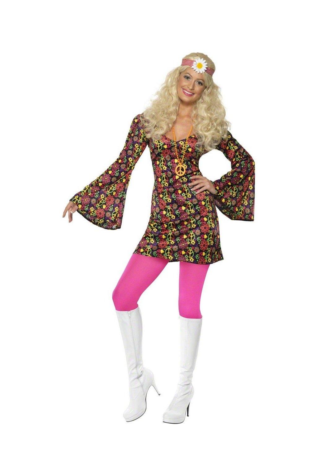 Kostým - Hippiesačka šaty
