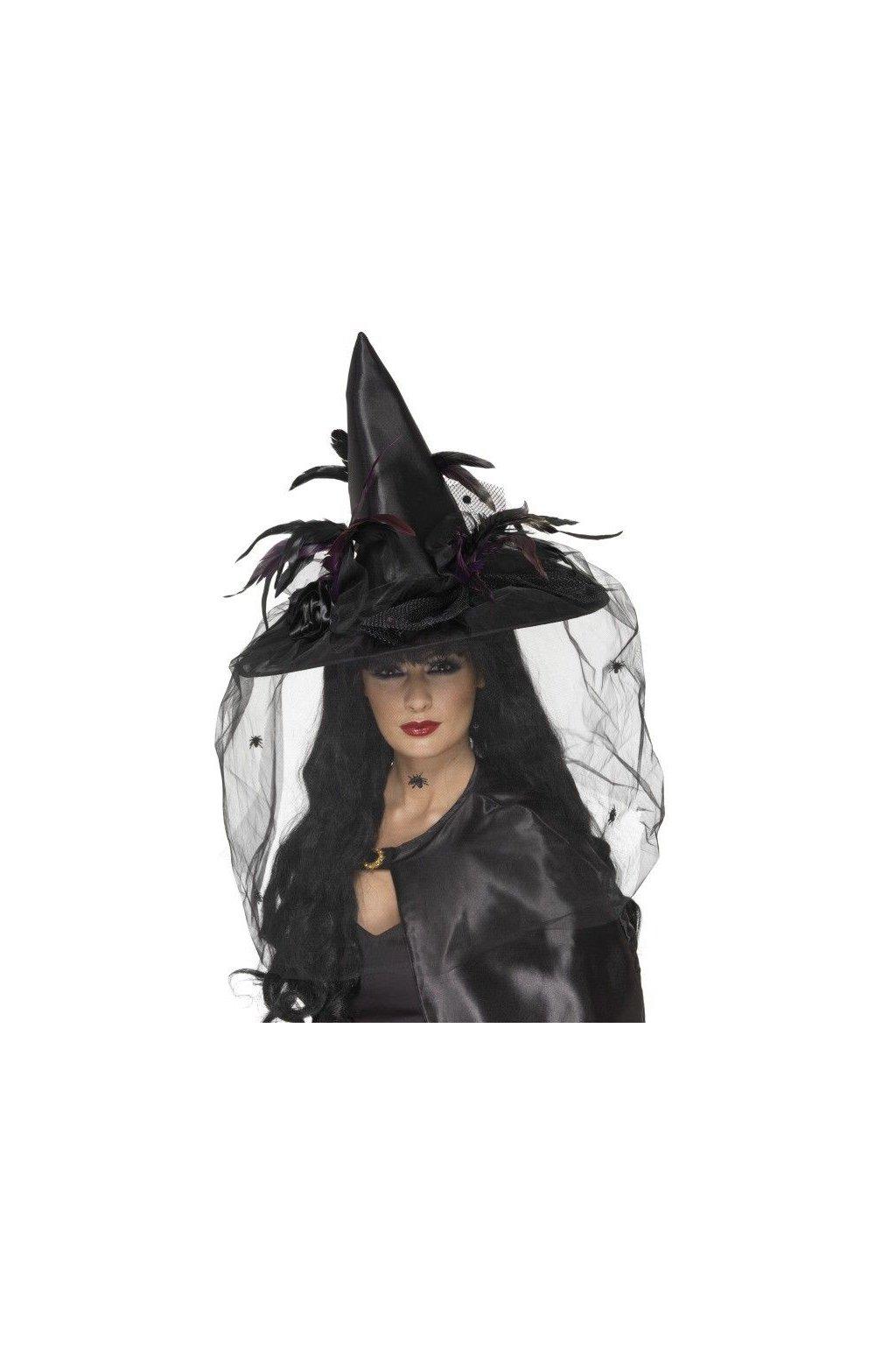 Čarodějnický klobouk - se závojem