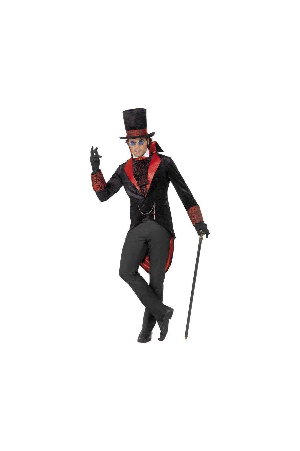 Upír - pánský kostým Drákula deluxe