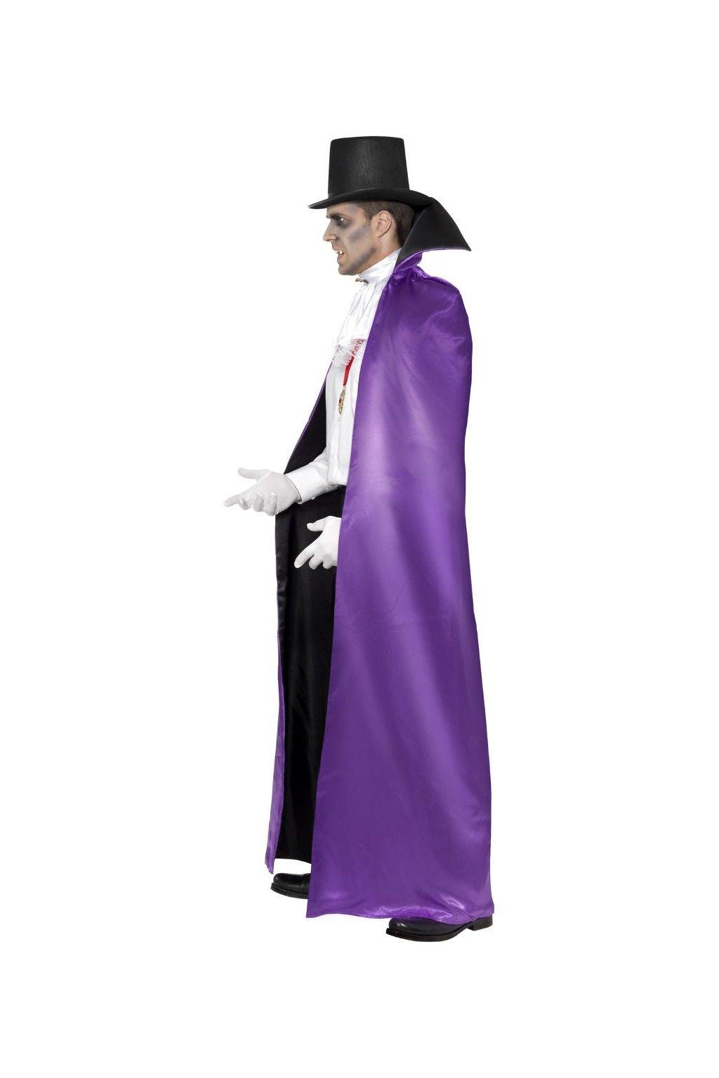 Oboustranný plášť - černý a fialový