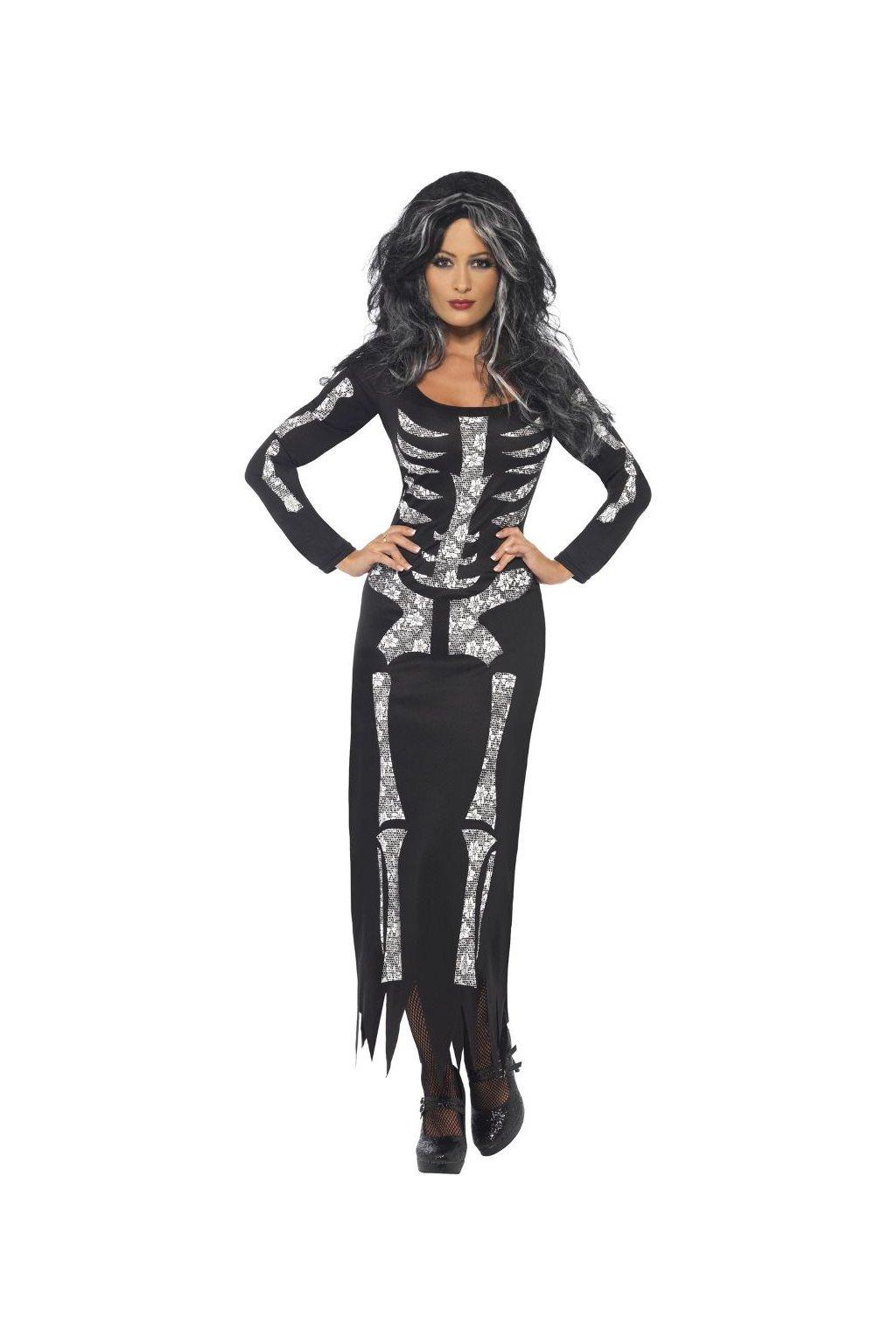 Kostlivec - dámský kostým Halloween
